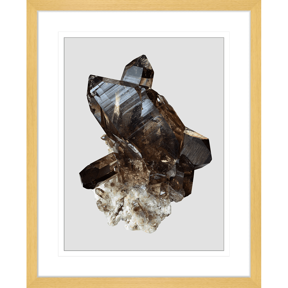 Onyx & Quartz Collection - ONYX04 - Framed Art Print Oak