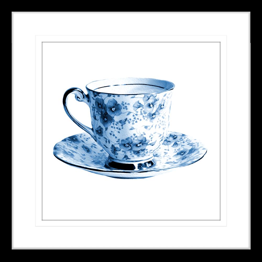 Tea Party Collection - TEA01 - Framed Art Print Black