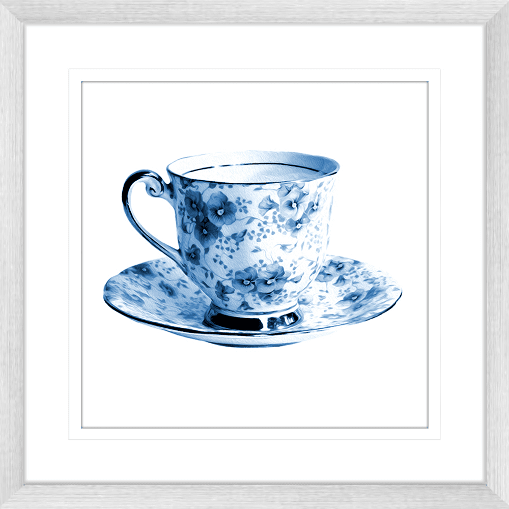 Tea Party Collection - TEA01 - Framed Art Print Silver