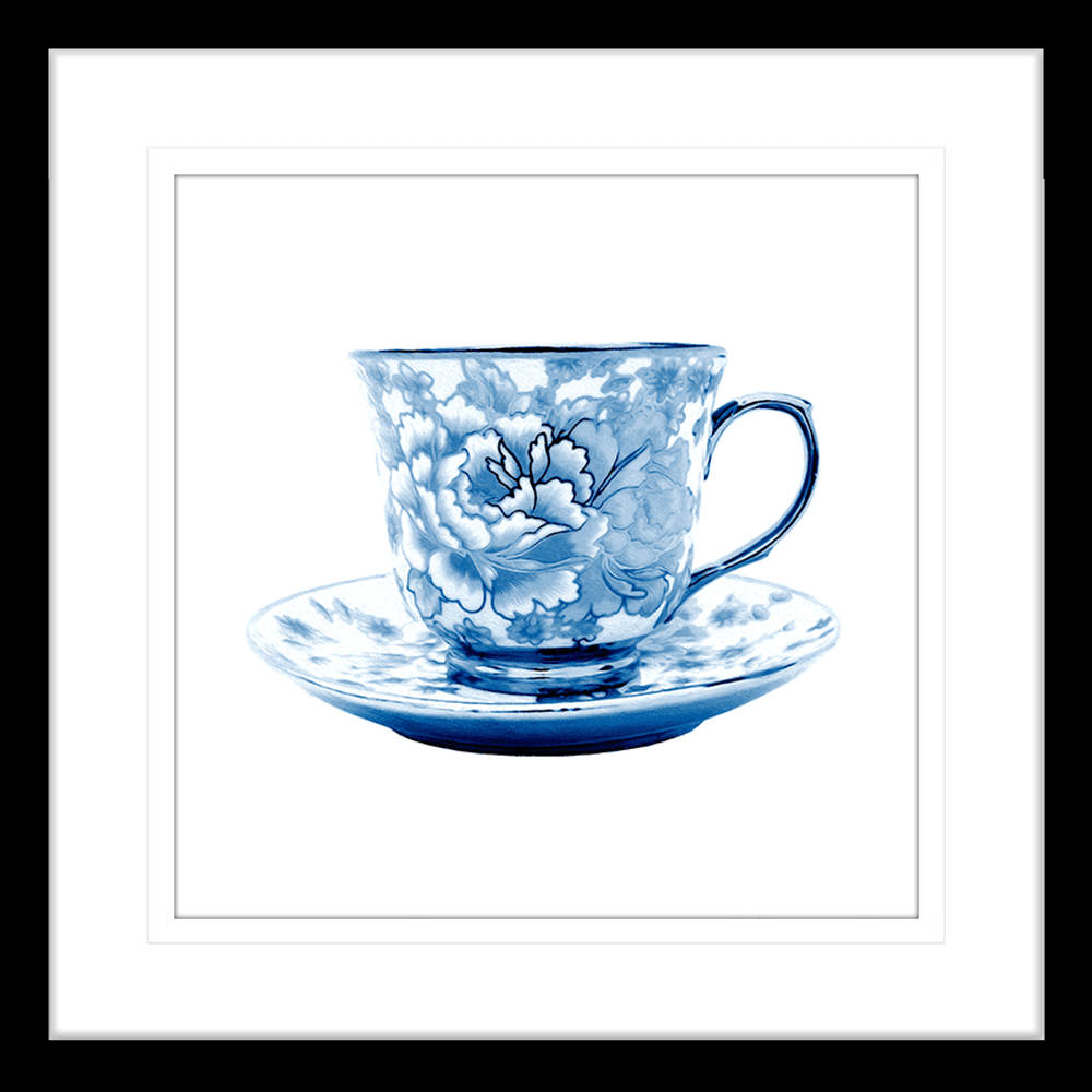 Tea Party Collection - TEA02 - Framed Art Print Black