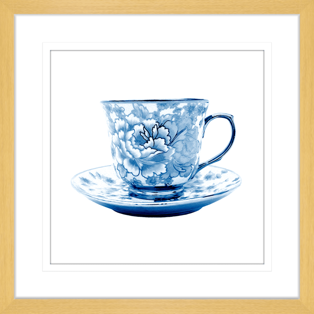 Tea Party Collection - TEA02 - Framed Art Print Oak