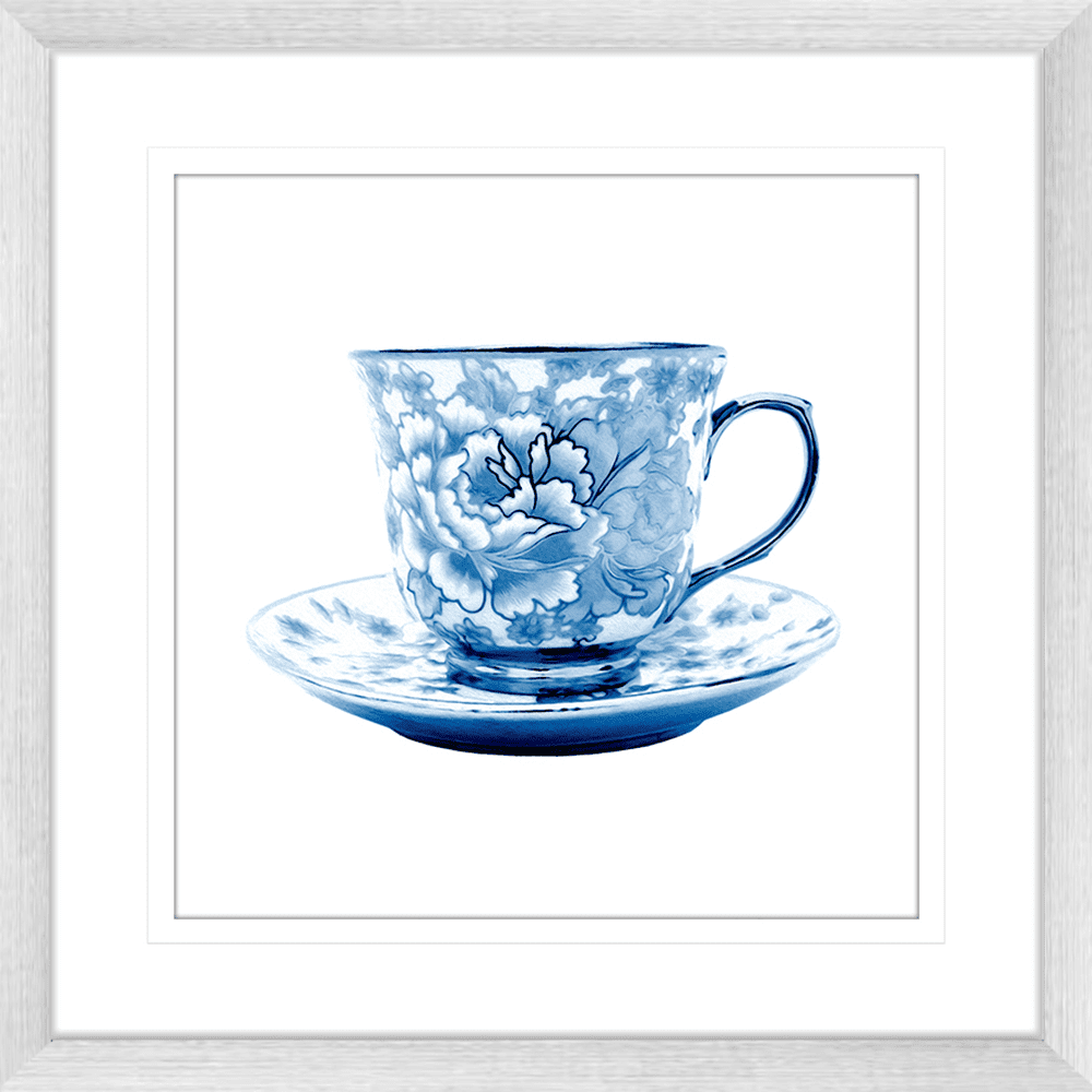 Tea Party Collection - TEA02 - Framed Art Print Silver