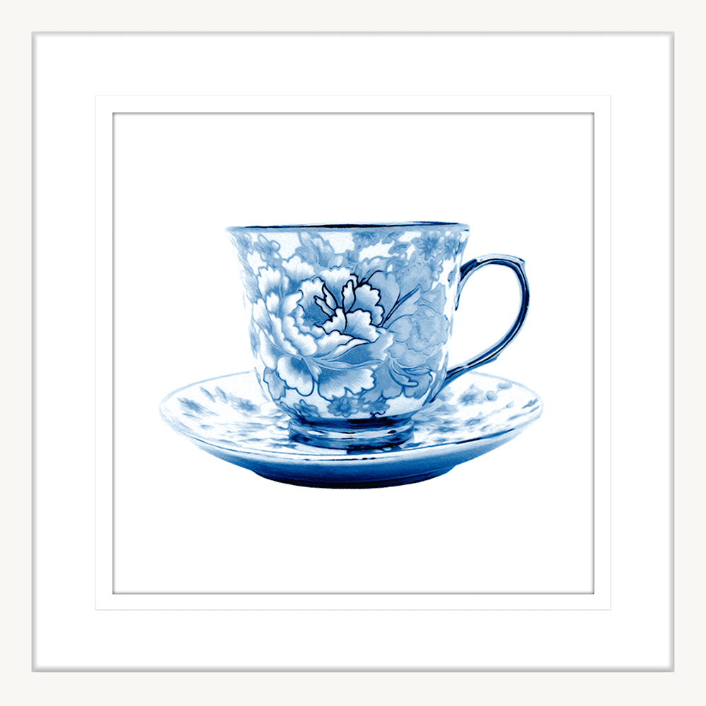 Tea Party Collection - TEA02 - Framed Art Print White