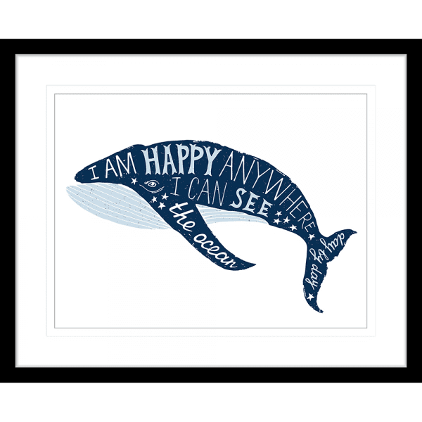 Sea Change Collection - SEAC01 - Framed Art Print Black