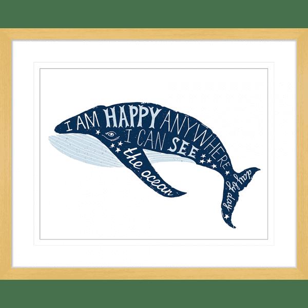 Sea Change Collection - SEAC01 - Framed Art Print Oak