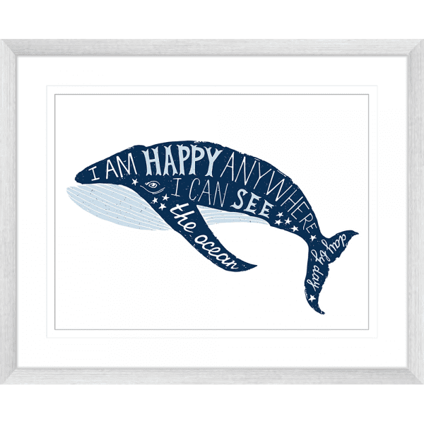 Sea Change Collection - SEAC01 - Framed Art Print Silver