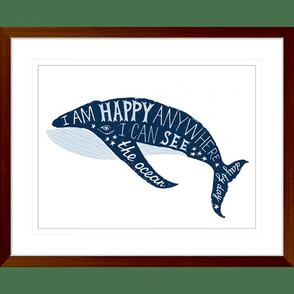 Sea Change Collection - SEAC01 - Framed Art Print Teak