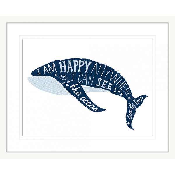 Sea Change Collection - SEAC01 - Framed Art Print White