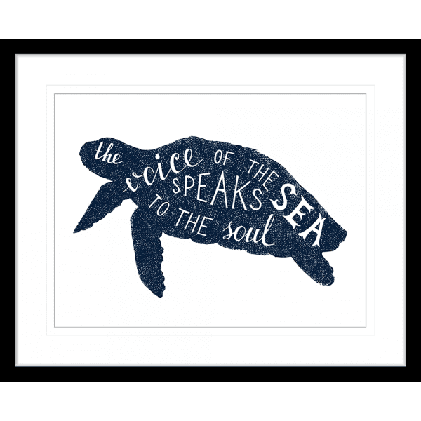 Sea Change Collection - SEAC02 - Framed Art Print Black