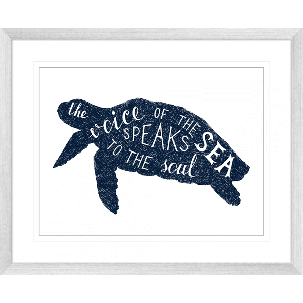 Sea Change Collection - SEAC02 - Framed Art Print Silver