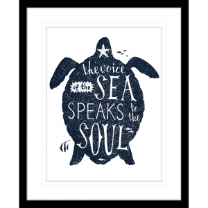 Sea Change Collection - SEAC03 - Framed Art Print Black