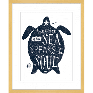 Sea Change Collection - SEAC03 - Framed Art Print Oak