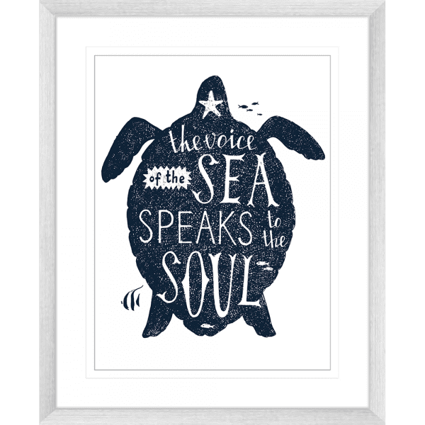 Sea Change Collection - SEAC03 - Framed Art Print Silver