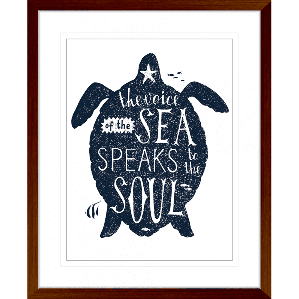 Sea Change Collection - SEAC03 - Framed Art Print Teak