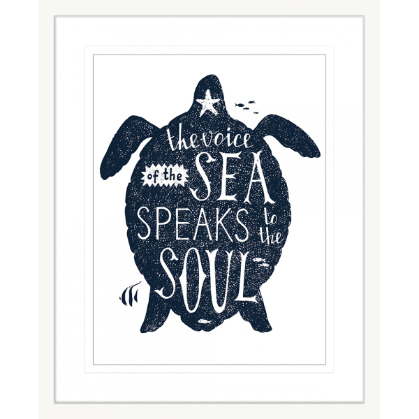 Sea Change Collection - SEAC03 - Framed Art Print White