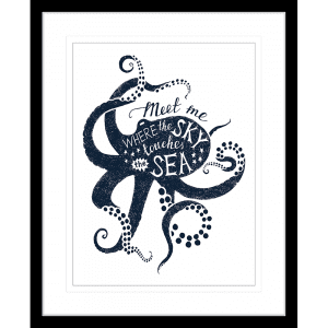 Sea Change Collection - SEAC04 - Framed Art Print Black