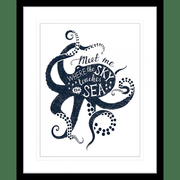 Sea Change Collection - SEAC04 - Framed Art Print Black