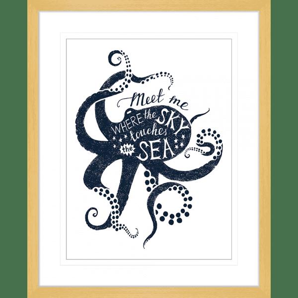 Sea Change Collection - SEAC04 - Framed Art Print Oak