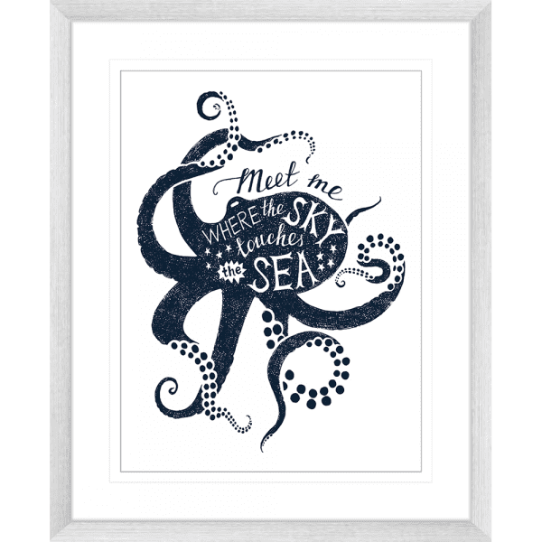 Sea Change Collection - SEAC04 - Framed Art Print Silver