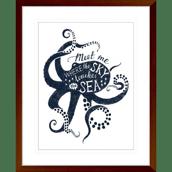 Sea Change Collection - SEAC04 - Framed Art Print Teak