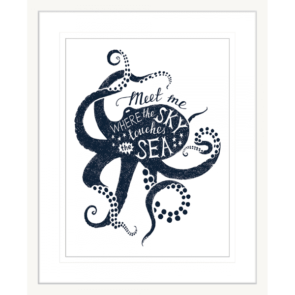 Sea Change Collection - SEAC04 - Framed Art Print White