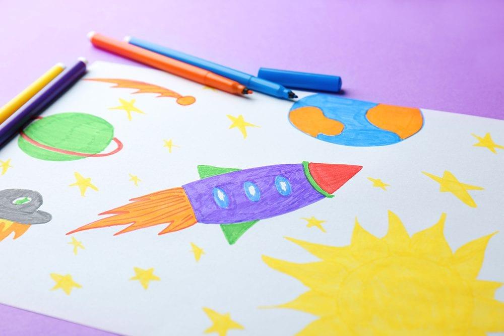 Beautiful ways to display your children's artwork