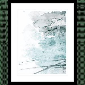 Brush and Splatter 07   Framed Print Black