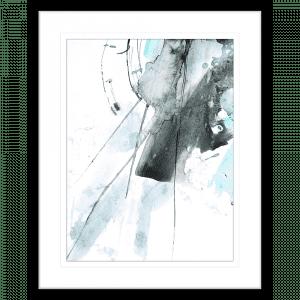 Brush and Splatter 08   Framed Print Black