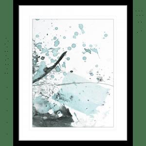 Brush and Splatter 09   Framed Print Black