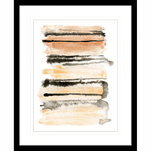 Interflow Abstract Collection 02   Framed Artwork Black