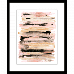 Interflow Abstract Collection 03   Framed Artwork Black