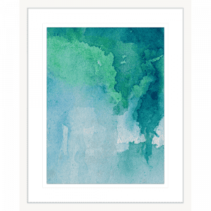 Watercolour Abstracts 62   Framed Artwork White