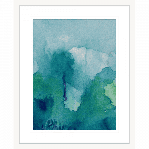 Watercolour Abstracts 63   Framed Artwork White