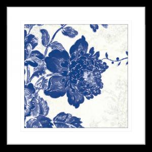 Toile Roses 01 | Black Framed Artwork