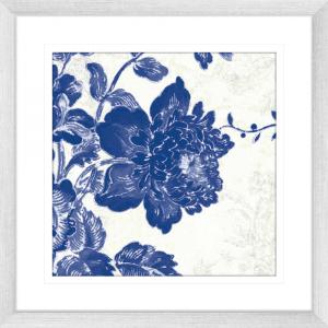 Toile Roses 01 | Silver Framed Artwork