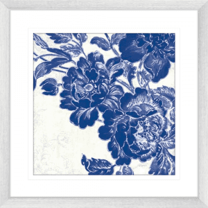 Toile Roses 02 | Silver Framed Artwork