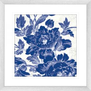 Toile Roses 03 | Silver Framed Artwork