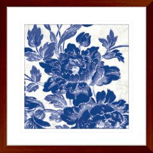 Toile Roses 03 | Teak Framed Artwork