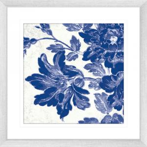Toile Roses 04 | Silver Framed Artwork