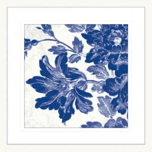 Toile Roses 04 | White Framed Artwork