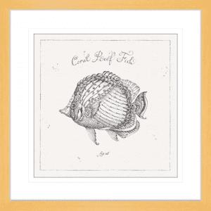 Underwater Life 03 | Oak Framed Artwork