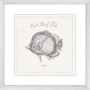 Underwater Life 03 | Silver Framed Artwork