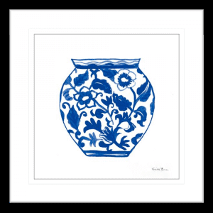 Chinoiserie I | Black Framed Artwork