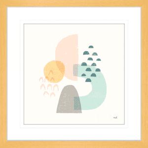 Happy Thoughts I | Oak Framed Artwork