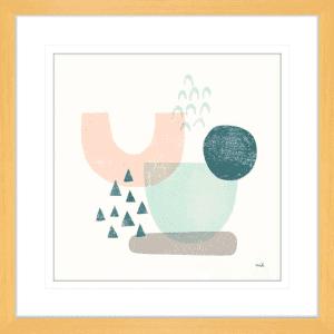 Happy Thoughts II | Oak Framed Artwork
