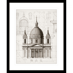 Classic Architecture 01 | Black Framed Artwork