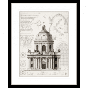 Classical Architecture 02 | Black Framed Artwork