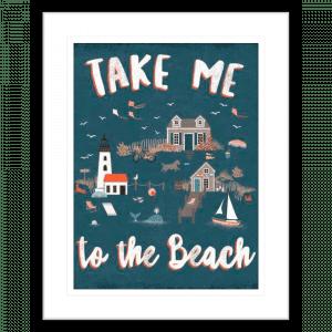 Seaside Village 03 | Black Framed Artwork