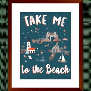 Seaside Village 03 | Teak Framed Artwork