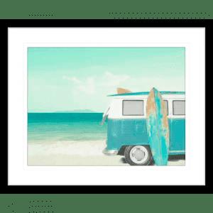 Surf and Sunsets 02   Black Framed Artwork